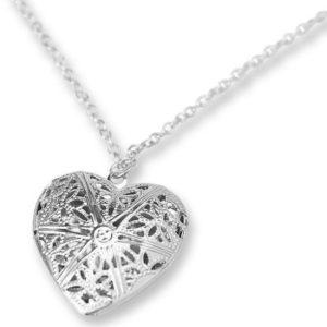Briolla, zilveren hanger met ketting - Montebello juwelen-0
