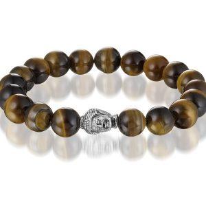 Montebello Armband Setaria - Dames - Kralen - Staal - Boedha - Genezend - 18cm-0