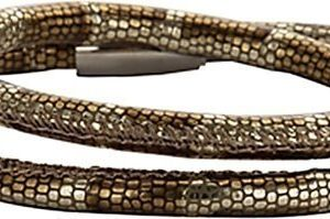Montebello Armband Pinus - Dames - 316L Staal - Leer - 41 cm -0