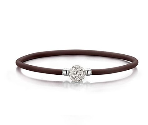 Peplonia, rubberen met zilveren armband - Montebello juwelen-0