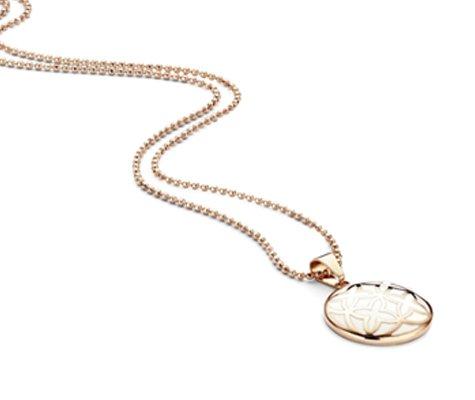 Farago, rosé edelstalen hanger met ketting - Montebello juwelen-0