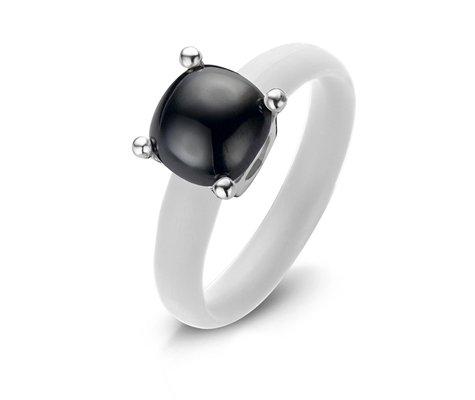 Montebello Ring Solidago - Dames - Zilver - Zirkonia - ∅10 mm - One Size-0