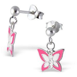 Ara Pink O, zilveren kinderoorbellen - Princess by Montebello-0