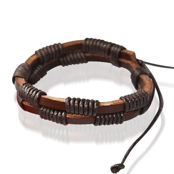 Montebello Armband Akla Brown - Heren - Leer - 20 - 23 cm-0