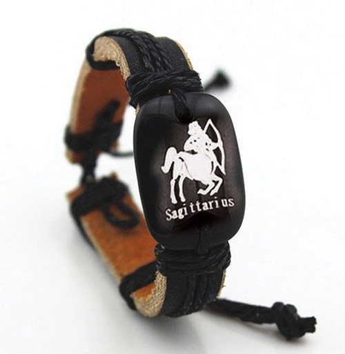 Montebello Armband Boogschutter - Unisex - Leer - Horoscoop - ∅20 - 23 cm-0