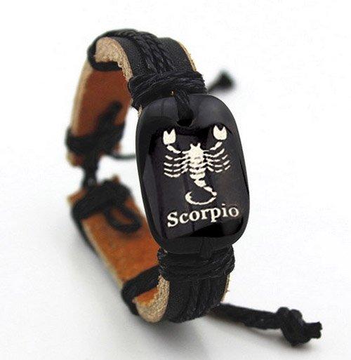 Montebello Armband Schorpioen - Heren - Leer - 20 - 23 cm-0