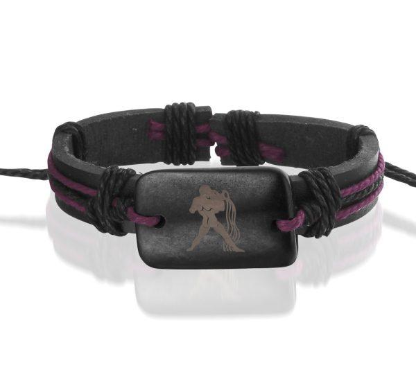 Montebello Armband Waterman - Unisex - Leer - Horoscoop - ∅20 - 23 cm-0