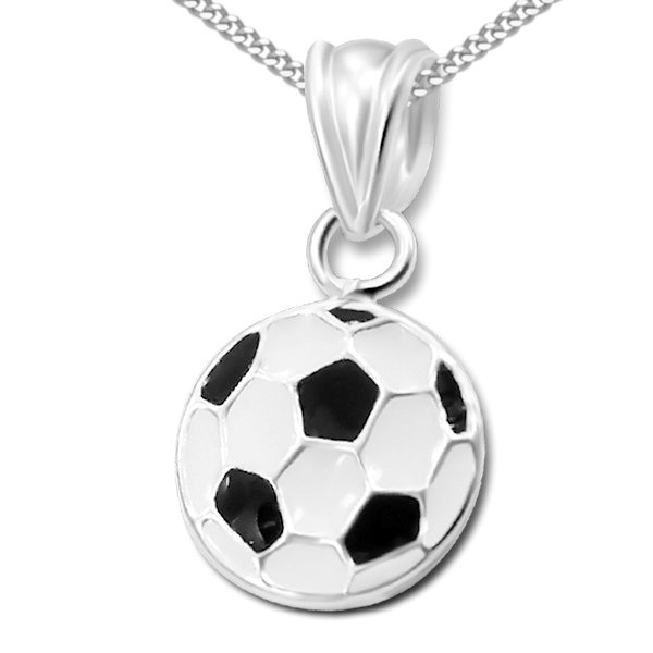 Princess by Montebello Kinderketting Football - Jongens - 925 Zilver - Epoxy - ∅9 mm - 38 cm-0
