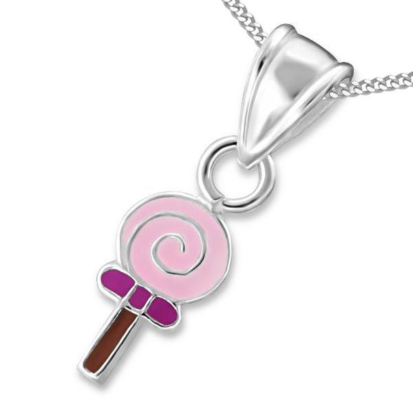 Princes Ketting Lollipop - Meisjes - 925 Zilver - Epoxy - 4 x 8 mm - 38 cm-0