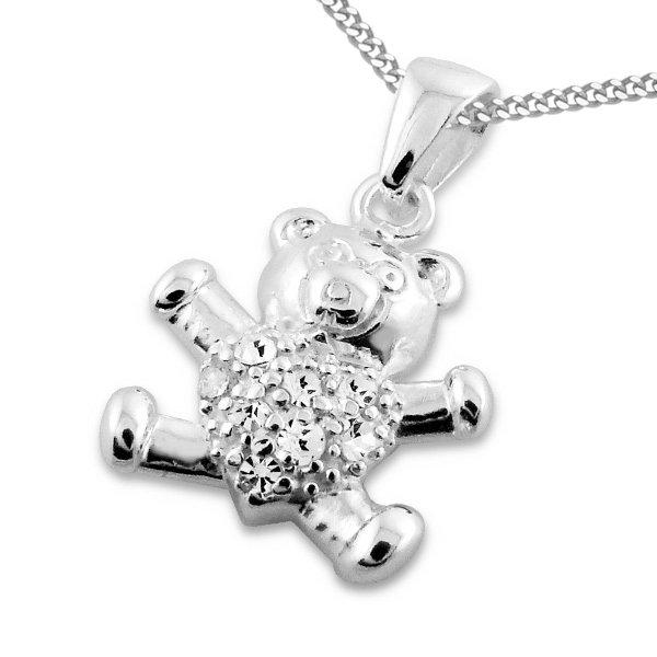 Bear, zilveren kinderhanger - Princess by Montebello-0