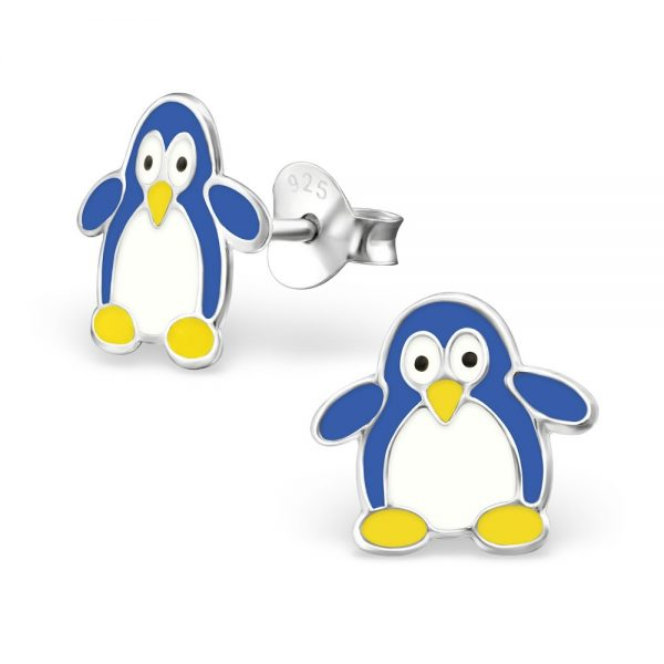 Princess by Montebello Oorbellen Pinguin Blue - Meisjes - 925 Zilver - 11x10mm-0