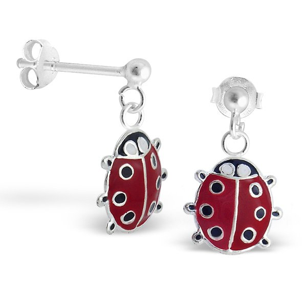 Princess Oorbellen Ladybug OL - Meisjes - 925 Zilver E-coating - Epoxy - Diertje - 9x10mm-0