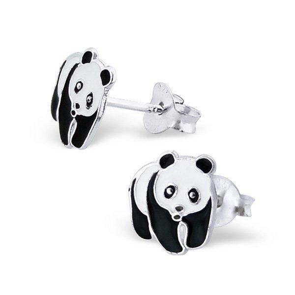 Princess Oorbellen Panda - Meisjes - 925 Zilver - Dier - 9x8mm-0