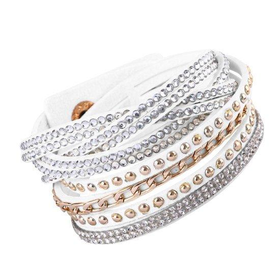 Montebello Armband Withania - Dames - PU Leer - Zirkonia - 40cm-0