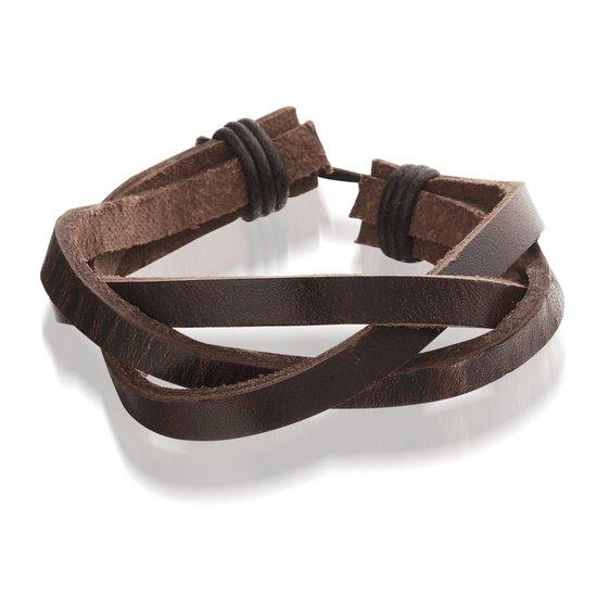 Montebello Armband Wollemia Brown - Unisex - Leer - 20-23cm-0