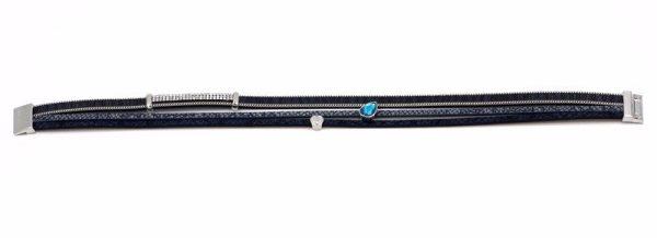 Montebello Armband Altin - Dames - PU Leer - Zirkonia - 38 cm-8764