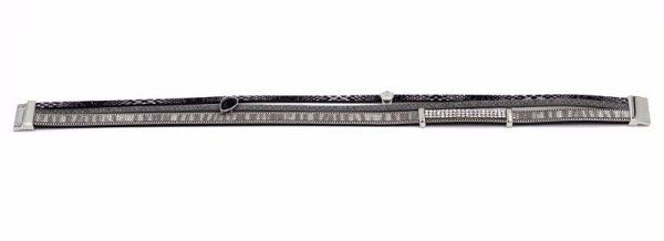 Montebello Armband Amer - Pu Leer - Zirkonia - 20mm - 38cm-8773