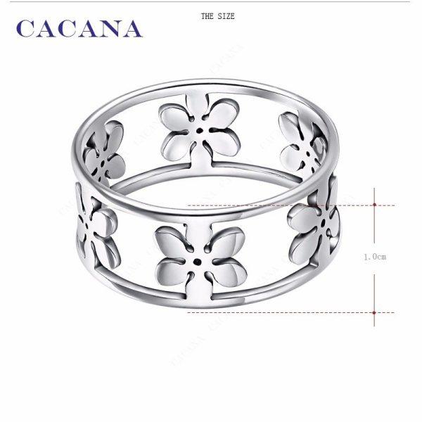 Bloem, edelstalen ring - Montebello juwelen-8869