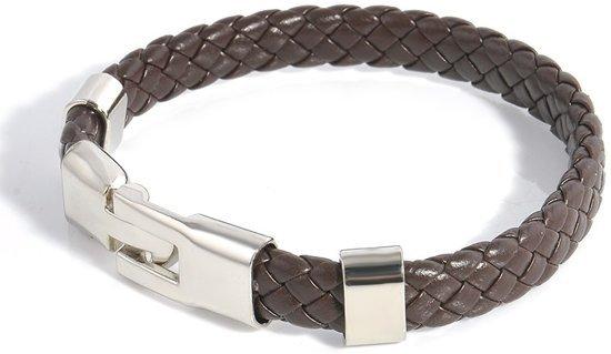 Montebello Armband Baltimora - Heren - leer - Metaal - 21 cm-0