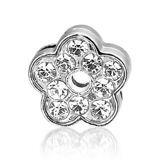Bedel Bloem, metalen bedel voor een armband - Montebello juwelen-0