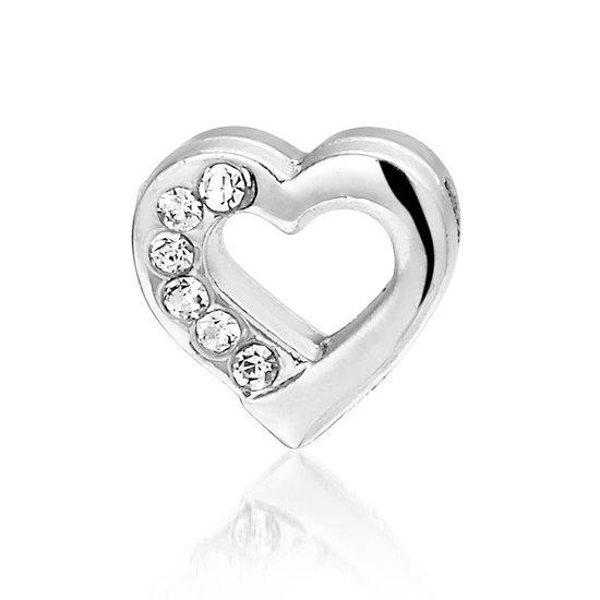 Bedel Hart, metalen bedel voor een armband - Montebello juwelen-0
