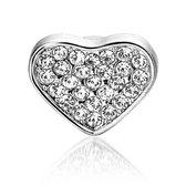 Bedel Hart G, metalen bedel voor een armband - Montebello juwelen-0