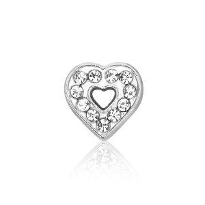 Bedel Hart K, metalen bedel voor een armband - Montebello juwelen-0