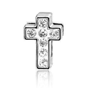 Bedel Kruis, metalen bedel voor een armband - Montebello juwelen-0