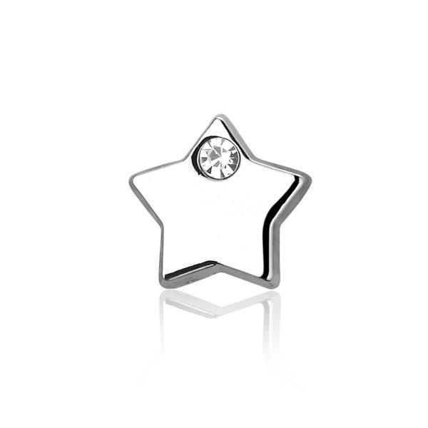 Bedel Ster 1, metalen bedel voor een armband - Montebello juwelen-0
