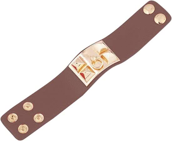 Montebello Armband Yaayoo - Dames - Leer - Staal - 33mm - 22cm (aanpasbaar)-9496