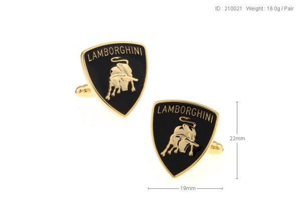 Montebello Manchetknopen Lamborghini - 316L Staal - Autologo - 19x22mm-18644