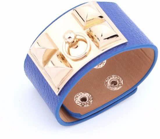 Montebello Armband Yaayoo - Dames - Leer - Staal - 33mm - 22cm (aanpasbaar)-0