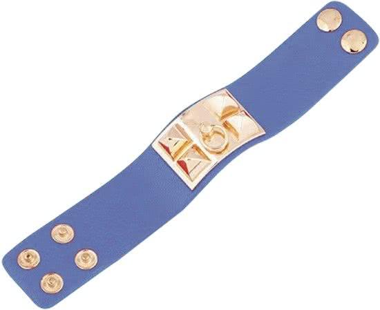 Montebello Armband Yaayoo - Dames - Leer - Staal - 33mm - 22cm (aanpasbaar)-9506