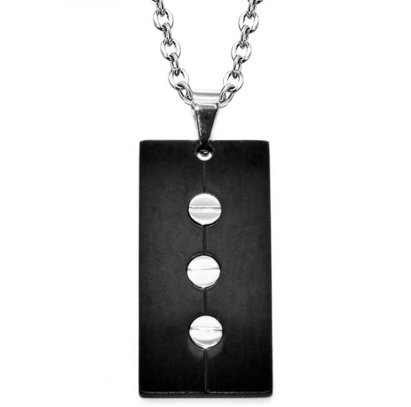 Montebello Ketting Adil - Heren - 316L Staal - Schroefje - 20x40 mm - 60cm-0