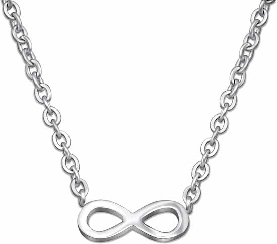 Montebello Ketting Afrim - Dames - 316L Staal - Infinity - 4 x 10 mm - 40 + 5 cm-0