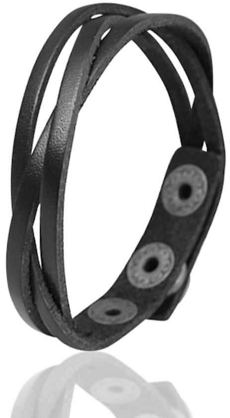 Montebello Armband Anchusa Black – Heren – Leer – 21.5 cm-0
