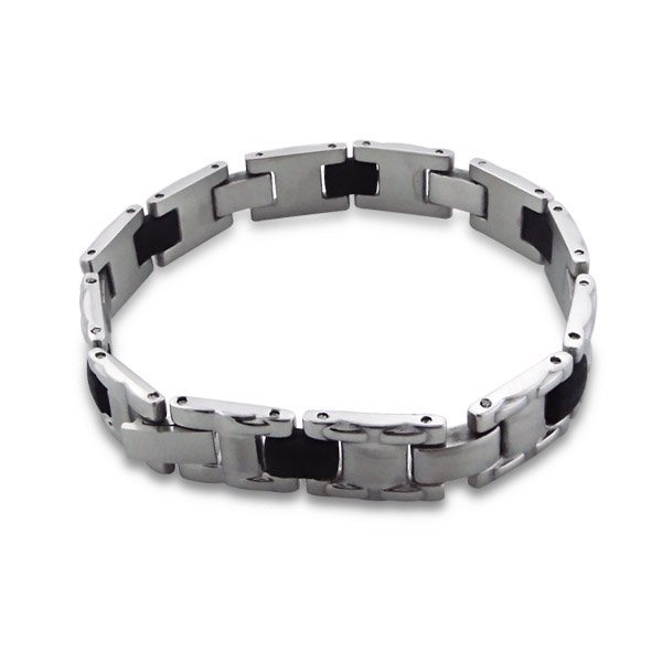 Montebello Armband Celebes - Heren - 316L Staal - Rubber - 10mm - 20cm-0