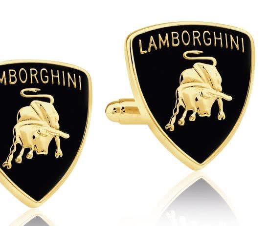 Montebello Manchetknopen Lamborghini - 316L Staal - Autologo - 19x22mm-0