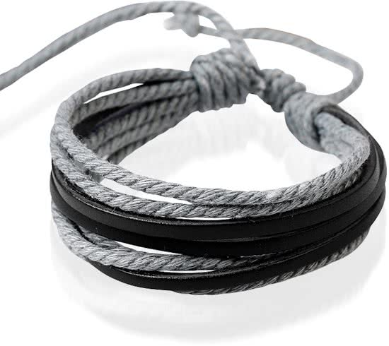 Montebello Armband Senecio Grey - Heren - Leer - ∅20 - 23 cm-0