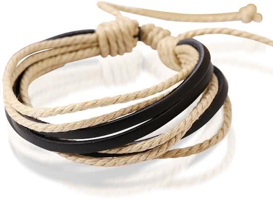 Montebello Armband Senecio Brown - Heren - Leer - ∅20 - 23 cm-0