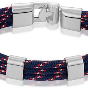 Montebello Armband Surf Red - Unisex - Touw - Metaal - 20.5cm-0