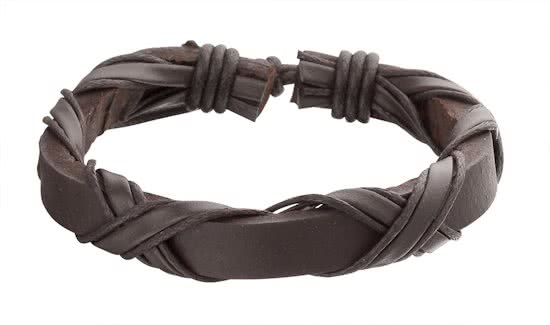 Montebello Armband Ammobium - Unisex - Leer - ∅21 - 23 cm-0