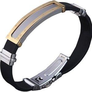 Arden, zwarte siliconen armband - Montebello juwelen-0
