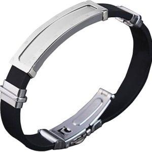 Montebello Armband Arda - Heren - Siliconen - 316L Staal - 20.5 cm-0