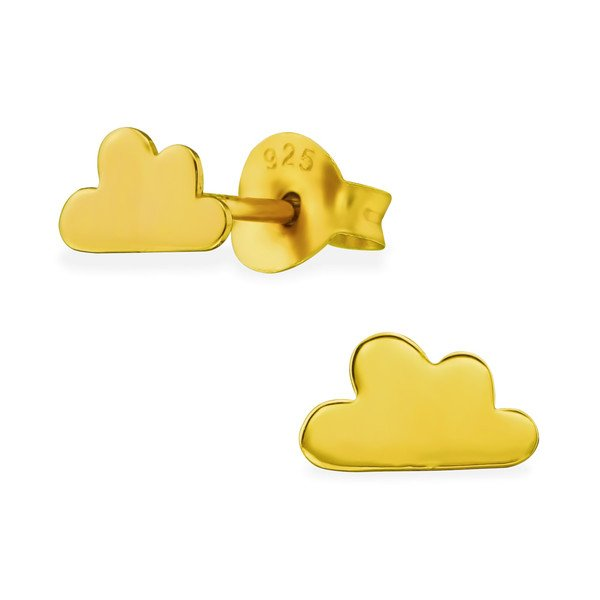 Montebello Oorbellen Cloud - 925 Zilver Verguld - Wolk - 6x4mm-0