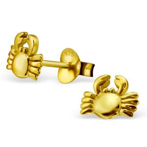 Montebello oorbellen Krab - Dames - 925 Zilver Goudverguld - Dier - 7x5 mm-0