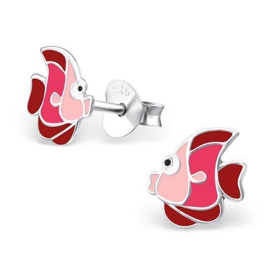 Lipvis Red O, zilveren kinderoorbellen - Princess by Montebello-0