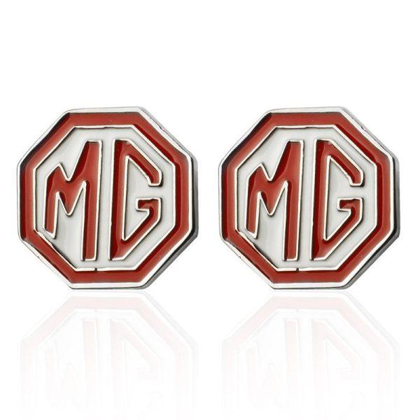 Montebello Manchetknopen MG - Heren - Metaal - Keramiek - ∅16 mm-0