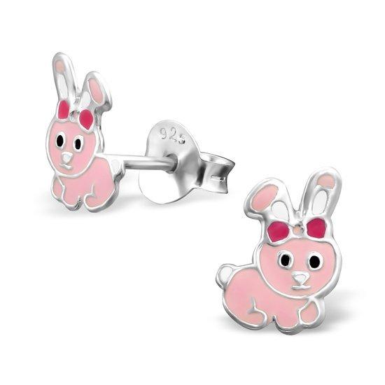 Princess Oorbellen Rabbit - Meisjes - 925 Zilver - Konijn - 6x9mm-0
