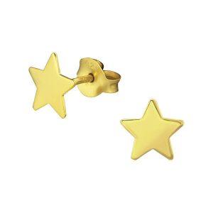 Montebello Oorbellen Star G - Dames - Zilver Verguld - Ster - 7 x 7 mm-0